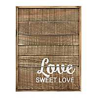 Love Sweet Love Wood Plaque