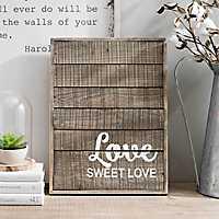 Love Sweet Love Wood Plaque