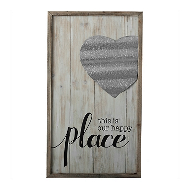 this is our happy place wall plaque