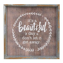 It's a Beautiful Day Wall Plaque