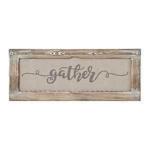 Gather Rustic Door Frame Plaque