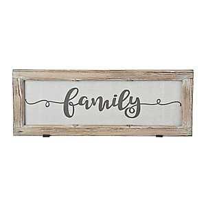 Family Rustic Door Frame Plaque