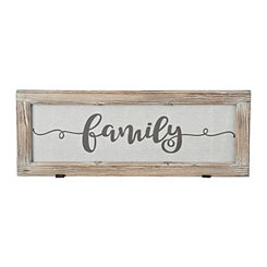 Family Rustic Door Frame Plaque