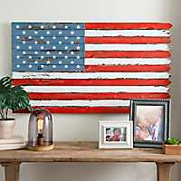 American Flag Plank Wall Plaque