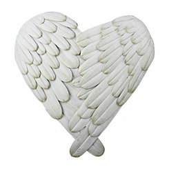 Angel Wing Heart Wall Plaque