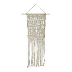 Open Weave Macrame Wall Hanging