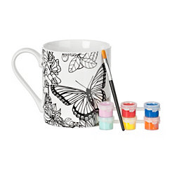 Butterfly DIY Mug Painting Kit