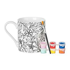 Floral DIY Mug Painting Kit