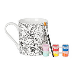 Floral DIY Mug Painting Kit