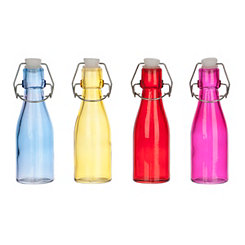 Colorful Glass Mini-Bottles, Set of 4