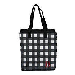 Buffalo Check Monogram B Insulated Tote