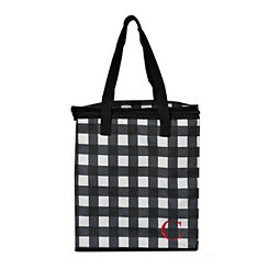 Buffalo Check Monogram C Insulated Tote