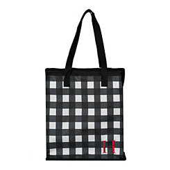 Buffalo Check Monogram H Insulated Tote