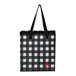 Buffalo Check Monogram K Insulated Tote