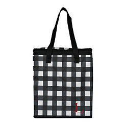 Buffalo Check Monogram L Insulated Tote