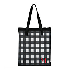 Buffalo Check Monogram M Insulated Tote