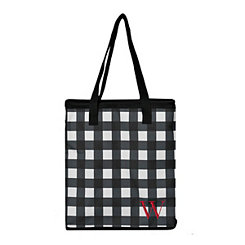 Buffalo Check Monogram W Insulated Tote