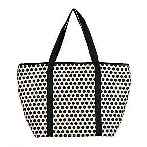 Black Polka Dot Insulated Tote