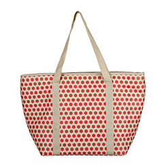 Red Polka Dot Insulated Tote