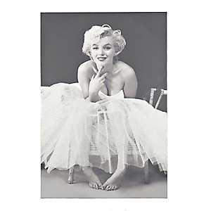 Ballerina Marilyn Glitter Canvas Art Print
