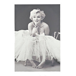 Ballerina Marilyn Glitter Canvas Art Print