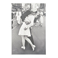 War Time Kiss Canvas Art Print