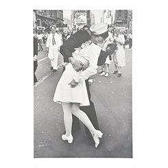 War Time Kiss Canvas Art Print