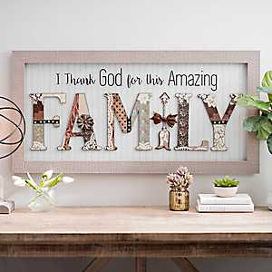 Amazing Family Scrapbook Shadowbox