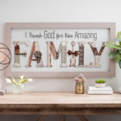 Amazing Family Scrapbook Shadowbox
