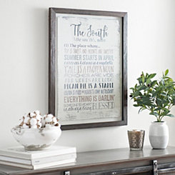 The South Framed Art Print