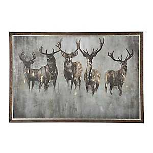Herd Of Deer Framed Art Print