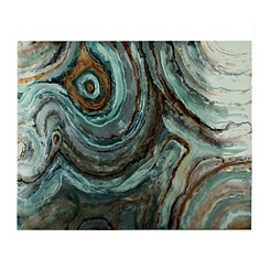 Metallic Geode Metal Art Print
