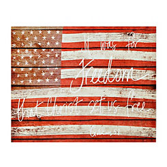 Freedom Flag Canvas Art Print