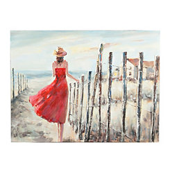 Red Dresscapade Canvas Art Print