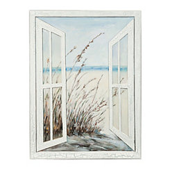 Open the Window Canvas Art Print