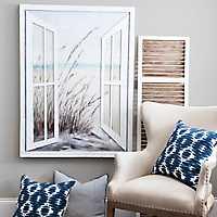Open the Window Canvas Art Print