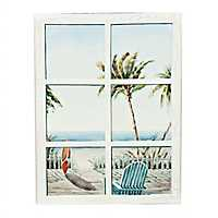 Beachside Window Canvas Art Print