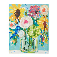 Happy Flowers Canvas Art Print