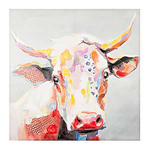 Betsy the Cow Canvas Art Print, 48x48