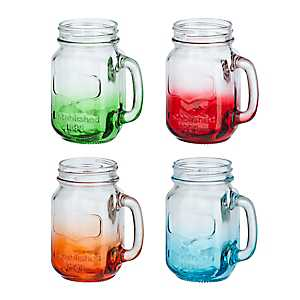 Ombre Mason Jar Mugs, Set of 4
