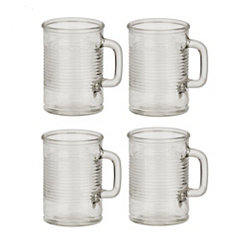 Canned Glass Mugs, Set of 4