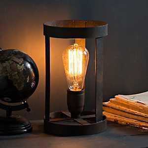 Rusty Bronze Metal Edison Bulb Uplight