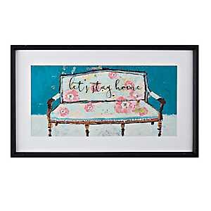 Let's Stay Home Framed Art Print