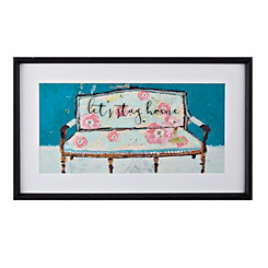 lets stay home framed art print