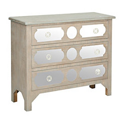 Cecilia Light Wash 3-Drawer Chest