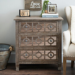 Darkwash Amelia Mirrored 3-Drawer Chest