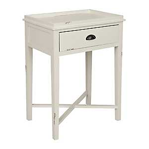 White Louise Accent Table