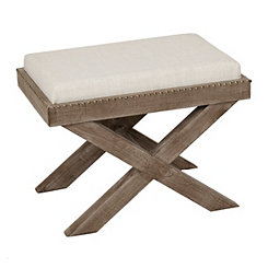Weathered Ottoman with Tray