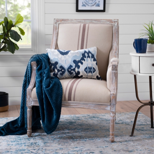Great McKenna Tan Stripe Accent Chair