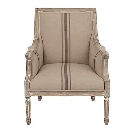 Mckenna Tan Stripe Accent Chair Kirklands
